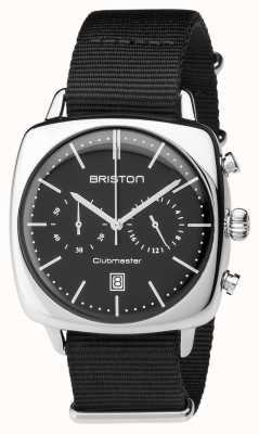 Briston 男士clubmaster复古钢计时黑色纺织 17140.PS.V.1.NB