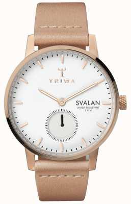 Triwa 玫瑰svalan白色表盘玫瑰金不锈钢表壳 SVST104-SS010614