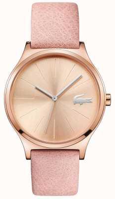 Lacoste Nikita玫瑰金表盘和表壳粉红色皮革表带 2001014