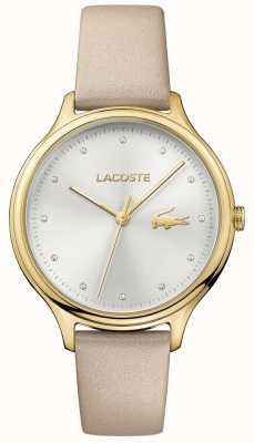 Lacoste 女士constance水晶镶银色表盘金色表壳 2001007