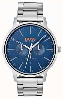 Hugo Boss Orange 蓝色表盘日期和日期显示不锈钢表链 1550067