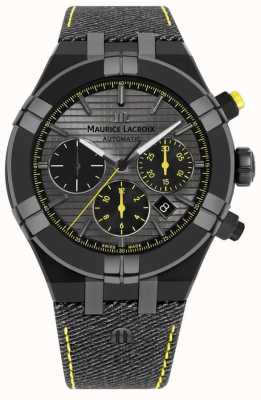 Maurice Lacroix 限量版aikon'追逐你的手表'黑色表带 AI6018-PVB01-331-1