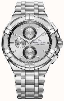 Maurice Lacroix 男士aikon不锈钢表链银色表盘 AI1018-SS002-130-1