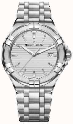 Maurice Lacroix 男士aikon不锈钢石英银色表盘 AI1008-SS002-131-1