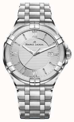 Maurice Lacroix 女士aikon不锈钢表链银色表盘 AI1004-SS002-130-1