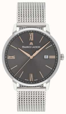 Maurice Lacroix 男士eliros网眼手链黑色表盘金色调 EL1118-SS002-311-1
