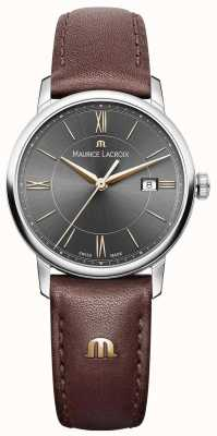 Maurice Lacroix 女装eliros棕色真皮表带黑色表盘金色调 EL1094-SS001-311-1