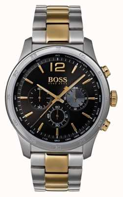 Hugo Boss 男士专业计时手表两色调手镯 1513529