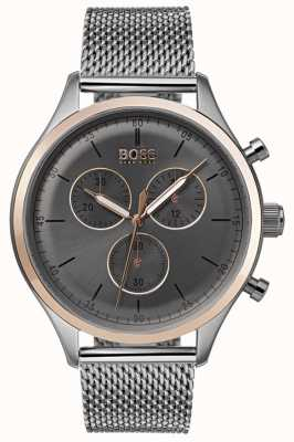 Boss 男士伴侣计时腕表灰色 1513549