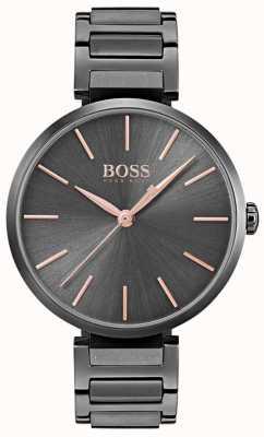 Hugo Boss 女装暗示观看黑色镀铁钢 1502416