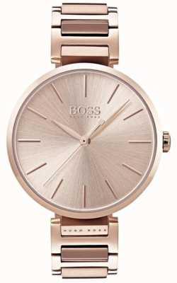 Boss 女装典情腕表玫瑰金色调 1502418