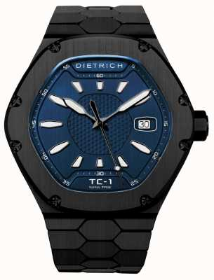 Dietrich 时间伴侣自动黑色pvd蓝色表盘 TC-1 PVD BLUE