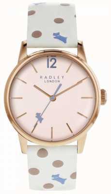 Radley 女装复古狗点手表粉红色表盘 RY2566