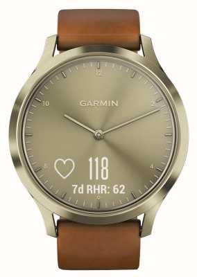 Garmin Vivomove hr高级活动追踪器金/皮革 010-01850-05
