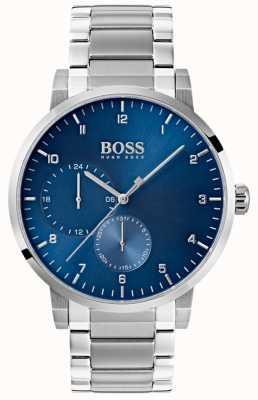 Boss 男士氧蓝色手表不锈钢表带阳光表盘 1513597