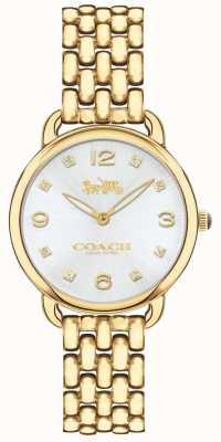 Coach 女士delancey纤细金色手链手表银色表盘 14502782