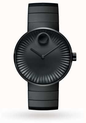 Movado 男士手表黑色离子镀钢 3680007
