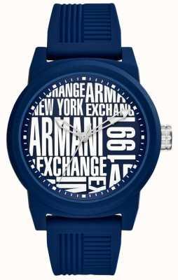 Armani Exchange 男士atlc硅胶表带 AX1444