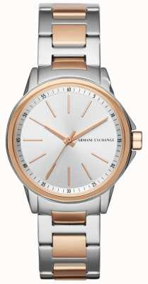 Armani Exchange 女士女士银行不锈钢表带 AX4363