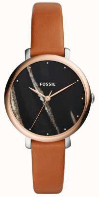 Fossil 女士jacqueline皮革表带 ES4378