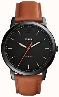 Fossil 男士极简主义3h皮革表带 FS5305