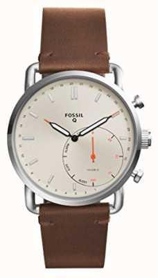 Fossil 男士q通勤皮质表带 FTW1150