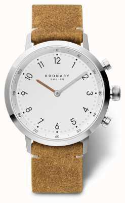 Kronaby 41毫米棕色绒面革不锈钢表壳 A1000-3128