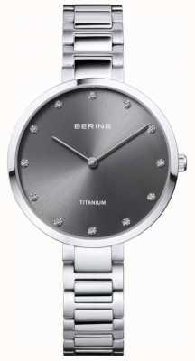 Bering 水晶套装钛灰色表壳和手镯 11334-772