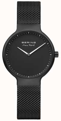 Bering MaxRené黑色磨砂表盘和黑色IP电镀网带 15531-123
