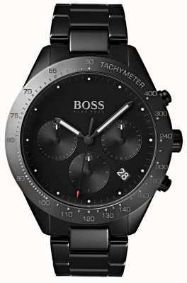 Boss 男士天赋黑色表盘日期显示黑色ip镀金手链 1513581