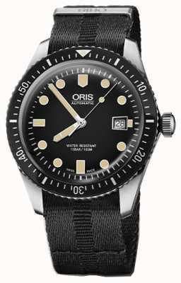 Oris 潜水员六十五个自动黑色表盘黑色北约表带 01 733 7720 4054-07 5 21 26FC