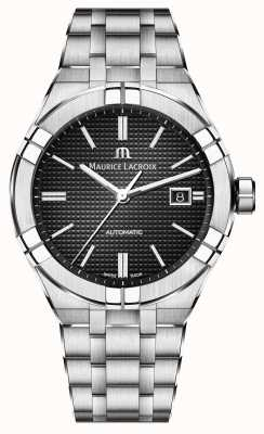 Maurice Lacroix 艾肯自动不锈钢黑色表盘手表 AI6008-SS002-330-1