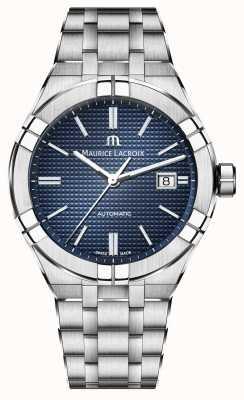 Maurice Lacroix 艾肯自动不锈钢蓝色表盘手表 AI6008-SS002-430-1
