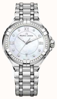 Maurice Lacroix Eliros女士月相珍珠母不锈钢 EL1096-SD502-107-1