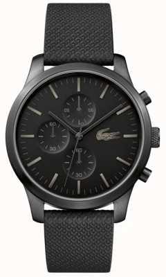 Lacoste 男装12.12 85周年纪念三重黑色腕表 2010947