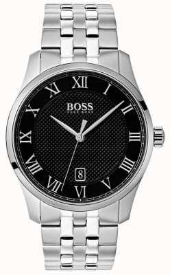 Boss 男士掌握不锈钢黑色表盘 1513588
