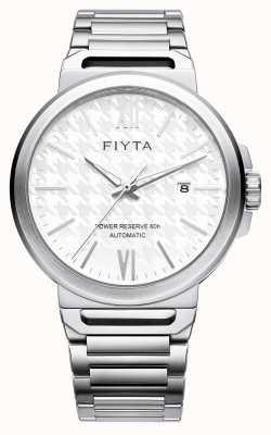 FIYTA 独奏自动不锈钢白色表盘蓝宝石 GA852000.WWW
