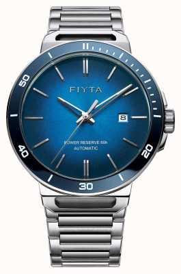FIYTA Solo自动不锈钢蓝色表盘蓝宝石 GA852001.WLW