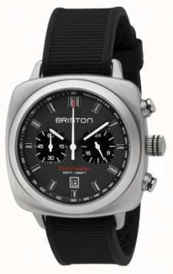 Briston Clubmaster运动黑色橡胶灰色亚光表盘 16142.S.SP.17.RB