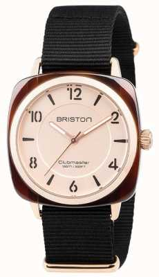 Briston Clubmaster 别致的黑色表带金色表盘 18536.PRA.T.6.NB