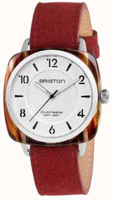 Briston Clubmaster别致的红色表带白色表盘 18536.SA.RE.2G.LNR
