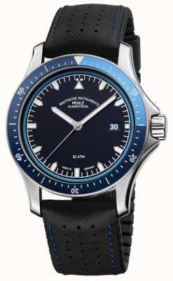 Muhle Glashutte Promare蓝色表盘黑色皮革/橡胶表带 M1-42-32-NB