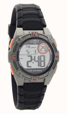 Limit 男士黑色橡胶表带数字/模拟手表 5695.71