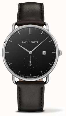 Paul Hewitt 宏伟的大西洋黑色皮革石英 PH-TGA-S-B-2M