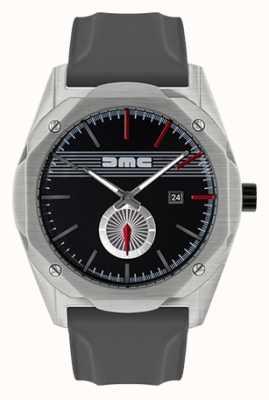 DeLorean Motor Company Watches 梦想提前灰色硅胶表带黑色表盘 DMC-5