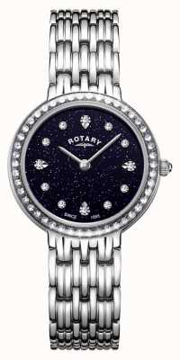 Rotary 女士肯辛顿蓝色闪烁拨号不锈钢 LB00400/67
