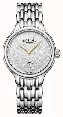 Rotary 女士闪闪发光的闪光表盘不锈钢 LB00405/33