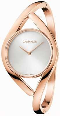 Calvin Klein 玫瑰和银色派对不锈钢手镯 K8U2S616