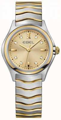 EBEL 女士钻石香槟色表盘,双色黄金和银色 1216317