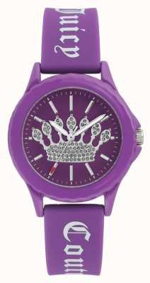 Juicy Couture 女式紫色硅胶表带紫色表盘表盘 JC-1001PRPR